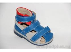 Туфли летние 10119-1 синий/с.серый