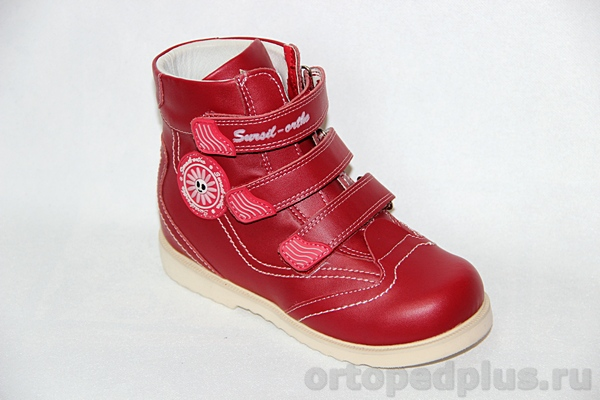 Ортопедическая обувь Ботинки 23-214 красн.