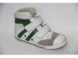 Кеды 71371 белый/зеленый
