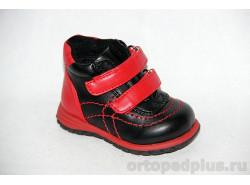 Ботинки 72907 чер/крас