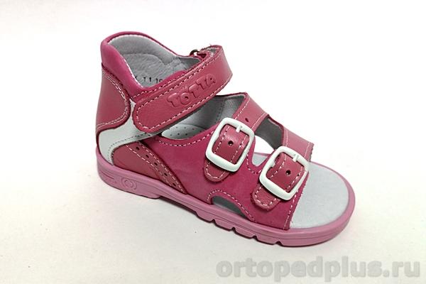 Ортопедическая обувь Сандалии М0218 пион/белый