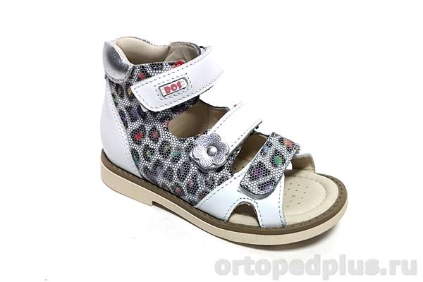 Ортопедическая обувь Сандалии 055-01 белый/рептилия