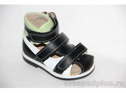 Туфли летние 10119-1 черный/белый/фисташковый