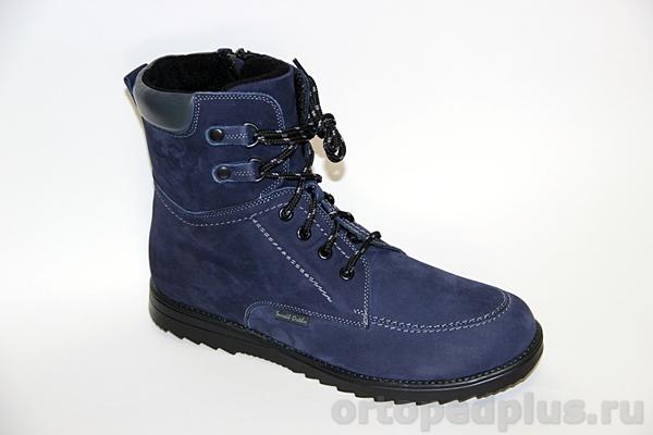 Ортопедическая обувь Ботинки 160201 т.синий