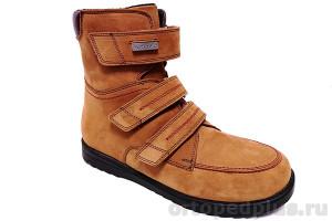 Ботинки 160205 рыжий