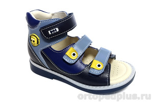 Сандалии 163-71 синий/голубой