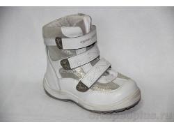 Ботинки 43-043 бел/серебр