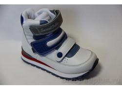 Ботинки 65-002 белый/синий