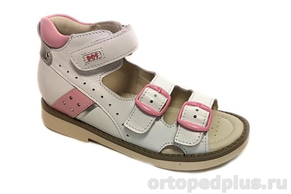 Ортопедическая обувь Сандалии 164-01 белый/розовый