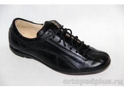 Туфли школьные 211115 гладкий черный