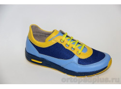 Кроссовки 22192 голубой/желтый