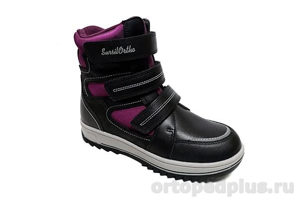 Ортопедическая обувь Ботинки 45-131 черный/фуксия