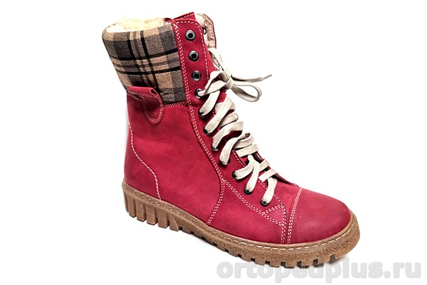 Ортопедическая обувь Ботинки 576-14 т.красный