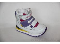 Ботинки 65-003 бел/сирень/розов