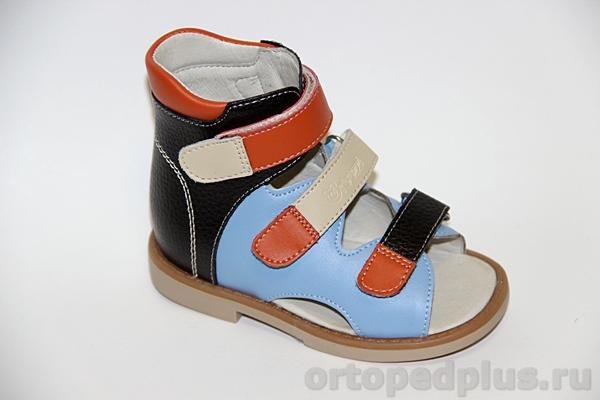 Ортопедическая обувь Ортопедические сандалии  ОРТ-80А-004А.12НТ т.кор/син/оранж/беж