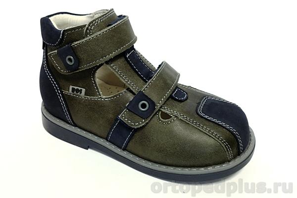 Ортопедическая обувь Туфли 071-135 хаки/синий