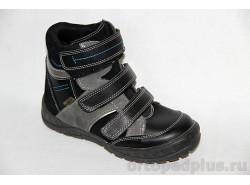 Ботинки 12-003 черный/серый
