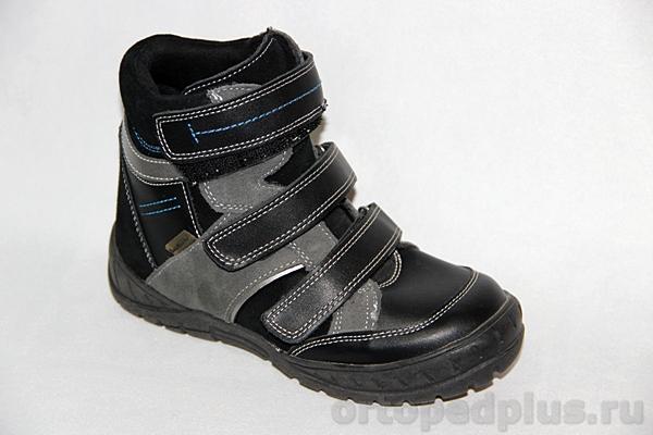 Ортопедическая обувь Ботинки 12-003 черный/серый