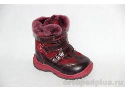 Ботинки 43-049 бордовый