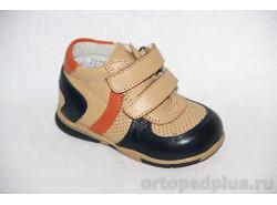 П.ботинки 70796 беж/т.син/оран