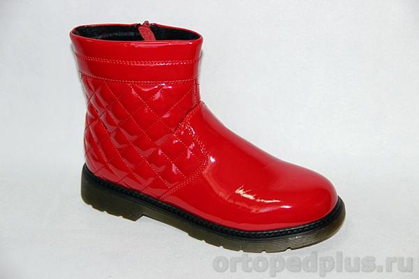 Ортопедическая обувь Ботинки 72003 красный