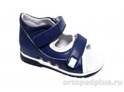 Сандалии 0225/1 джинс/белый