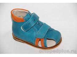 Сандалии 02/2М синий/оранжевый
