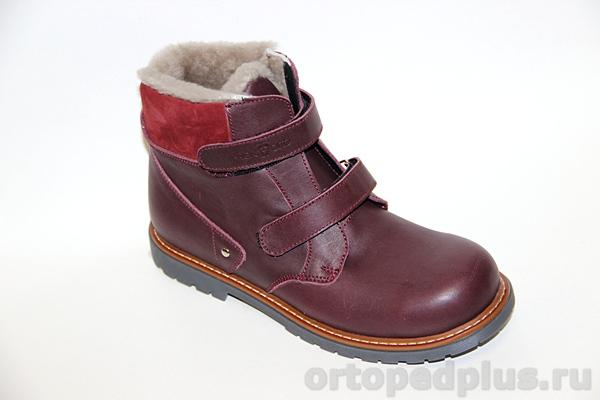 Ботинки зимние 06-749 бордовый