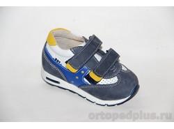 Кроссовки 091-712 синий/белый/желтый