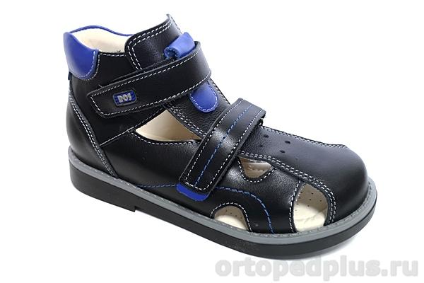 Ортопедическая обувь Сандалии 111-112 черный/синий