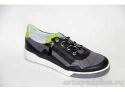 Кроссовки 22116 черный/сетка серый