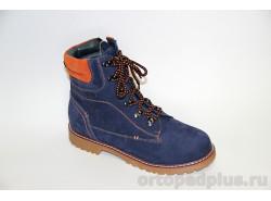 Ботинки 23-255 синий/оранжевый
