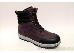 Ботинки 45-133 черный/фиолетовый