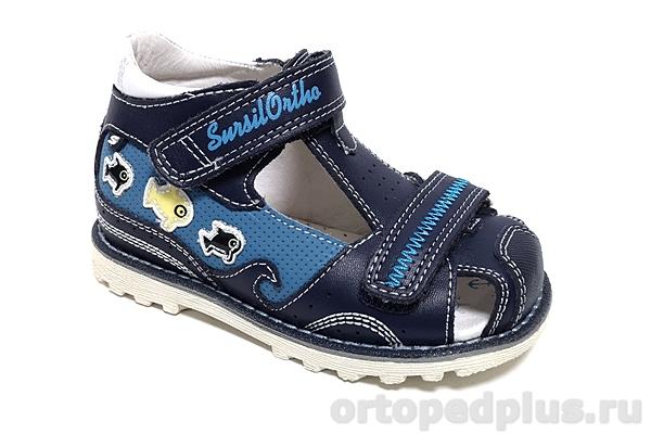 Ортопедическая обувь Сандалии 55-304М синий
