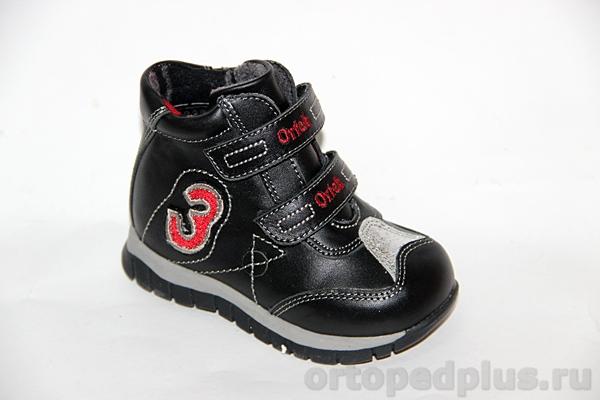 Ортопедическая обувь Ботинки 72376 черн/крас