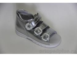 Сандалии М020-Д серебро