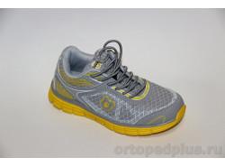 Кроссовки Т9-50375-1 св.серый/желтый