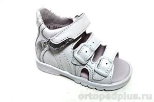 Сандалии 0223 белый/серебро