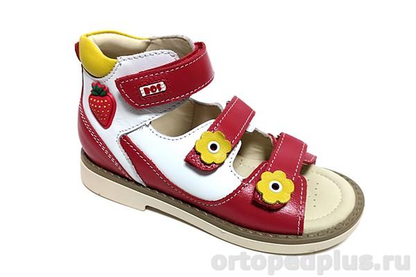 Ортопедическая обувь Сандалии 163-31 красный/белый