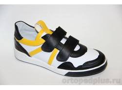 Кроссовки 22117 черный/белый