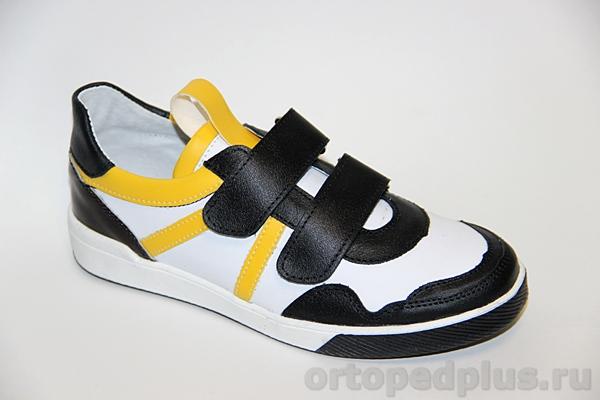 Ортопедическая обувь Кроссовки 22117 черный/белый