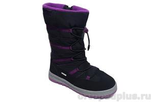 Ботинки 45-144 черный/бордовый