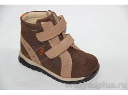 Ботинки 72377 коричневый/бежевый