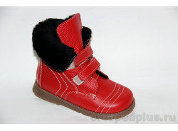 Ботинки Герда красный мех