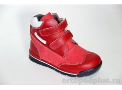 Ботинки 06-552 красный