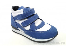 Ботинки 06-555 голубой/белый