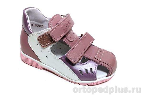 Ортопедическая обувь Туфли 060/1 белый/сирень/ирис