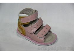 Туфли летние 10115 -1 розовый/желтый