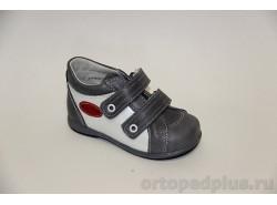 П/ботинки 11-402-2 серый/белый