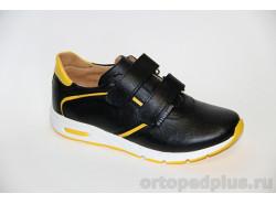 Кроссовки 22121 черный/желтый